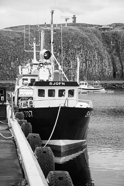 Fishing boats seen in Snaefellesnes, Iceland