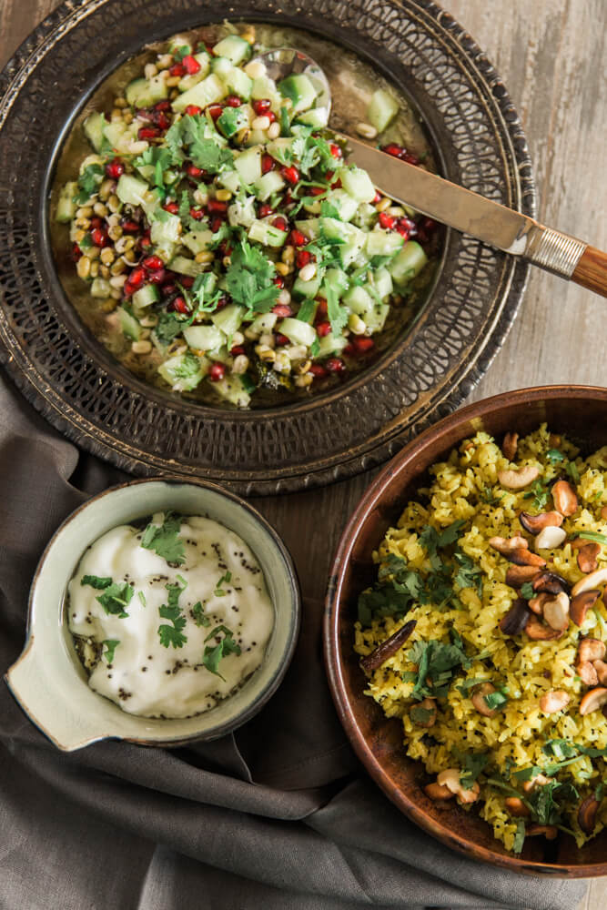 Simple ayurvedic dishes made during the week for a quick meal