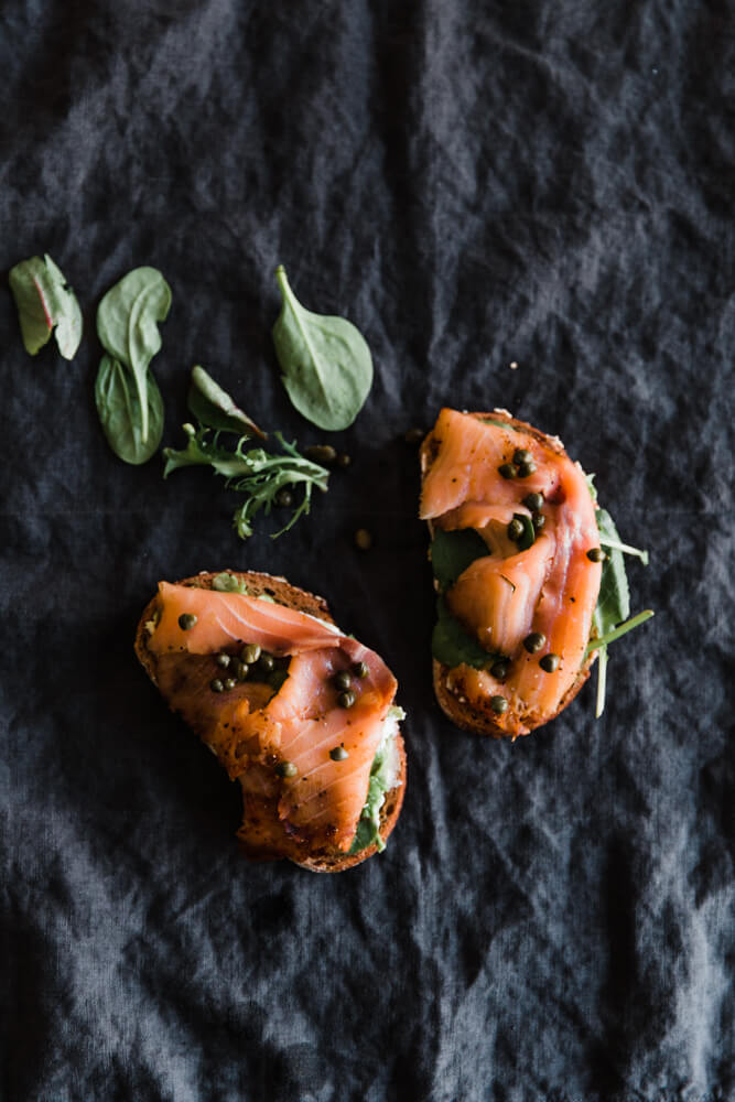 The best smoked salmon sandwich you'll ever eat and it couldn't be easier to make. Stop by Shilpa Iyer Photography's blog to find out the recipe.