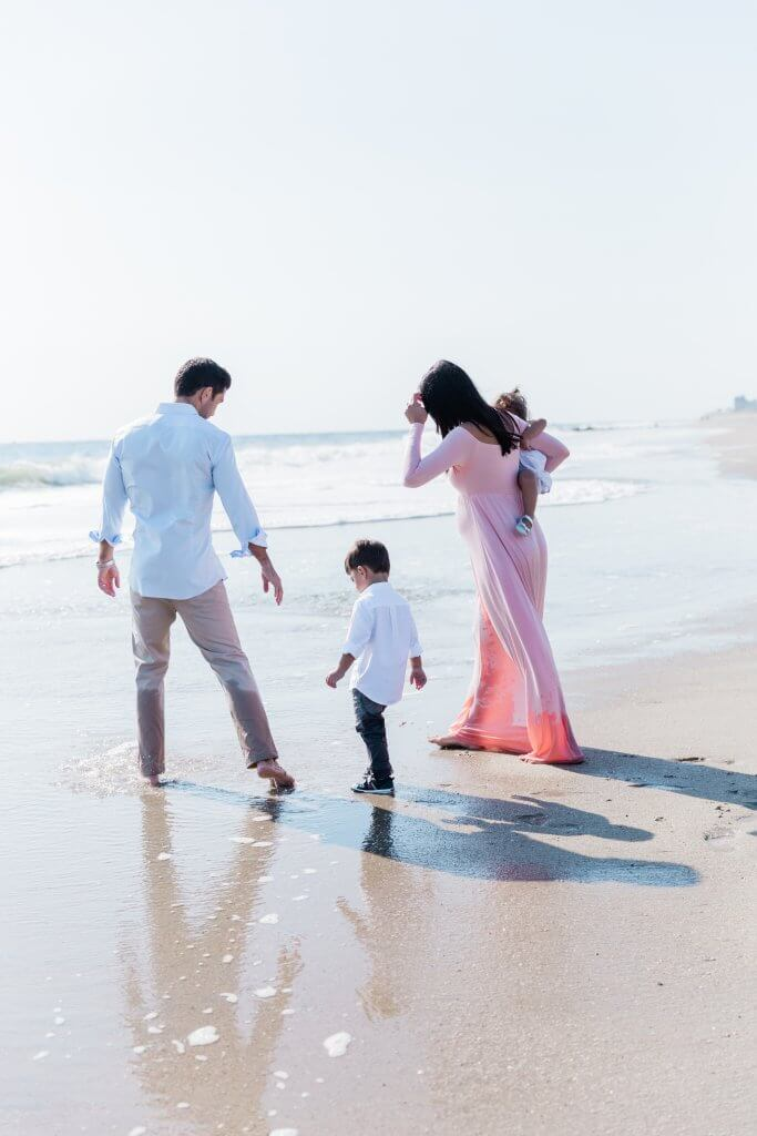 Image of family captured during the family Maternity Session in Sea Bright, NJ