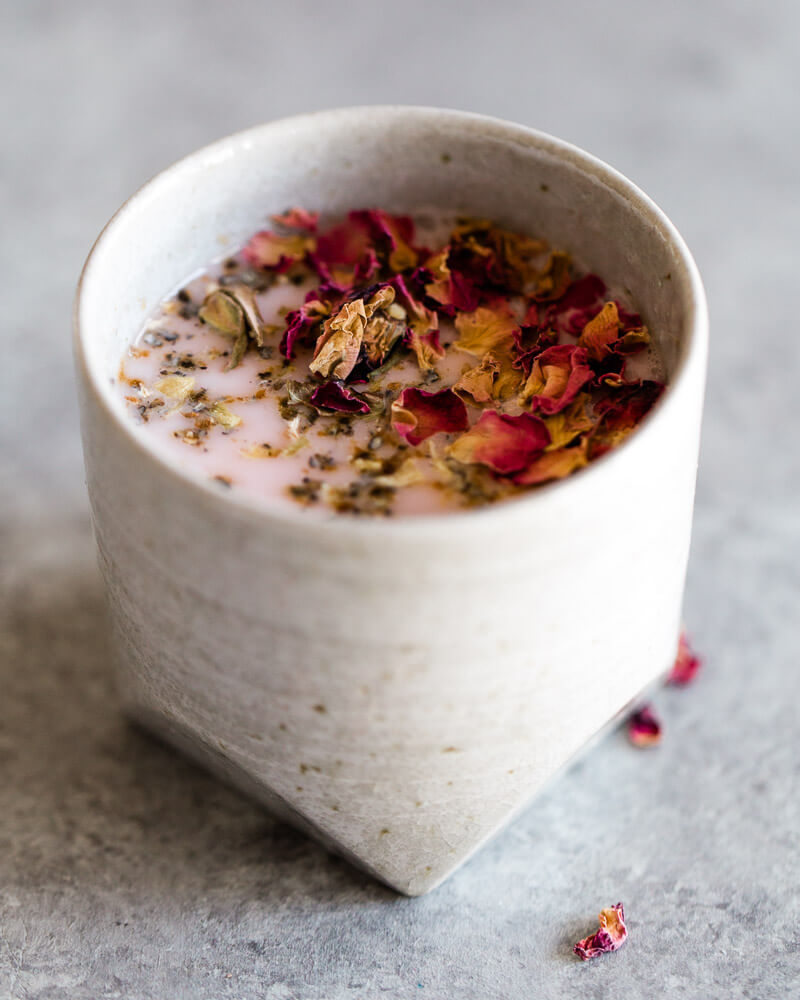 Here is a recipe for rose and cardamom scented almond milk